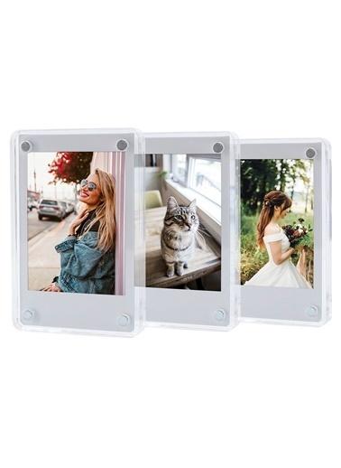 Fujifilm Instax mini Film Uyumlu Mıknatıslı Pleksi Resim Çerçevesi 3 Adet Renkli
